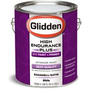 Glidden High Endurance Plus Interior Eggshell/Satin, White, 1 Gallon