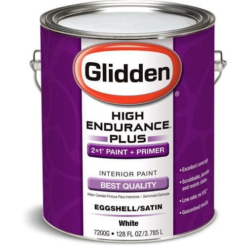 Glidden High Endurance Plus Interior Eggshell/Satin, White, 1 Gallon