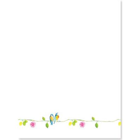 Watercolor Birds Stationery