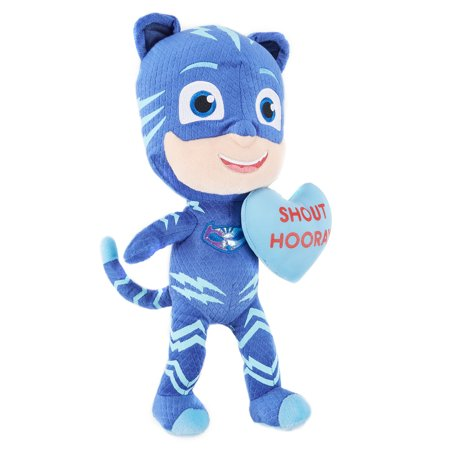 PJ Masks Valentine Plush – Catboy Holding Heart