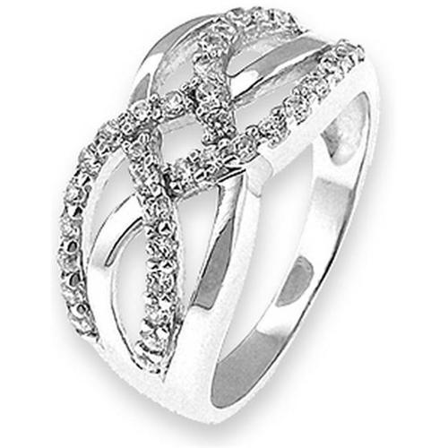 Doma Jewellery SSRZ4686 Sterling Silver Ring With CZ, Size 6