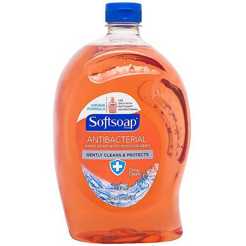 Softsoap Crisp Clean Antibacterial Hand Soap with Moisturizers Refill, 56 fl oz