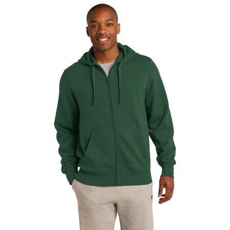 9e97d3220f2 Sport-Tek ST258 Mens Full-Zip Hooded Sweatshirt - Forest Green - Medium -  Walmart.com