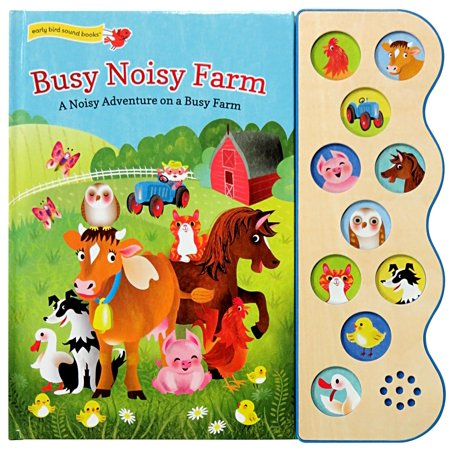 Busy Noisy Farm: Deluxe Sound Book Wood Module (Board Book) Childrens Busy Book