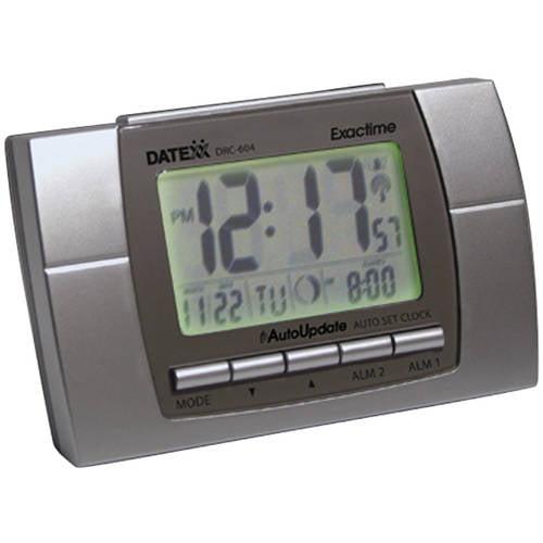 Radio Control LCD Clock -Alarm clock with calendar temperature , Moon phase,dual alarm