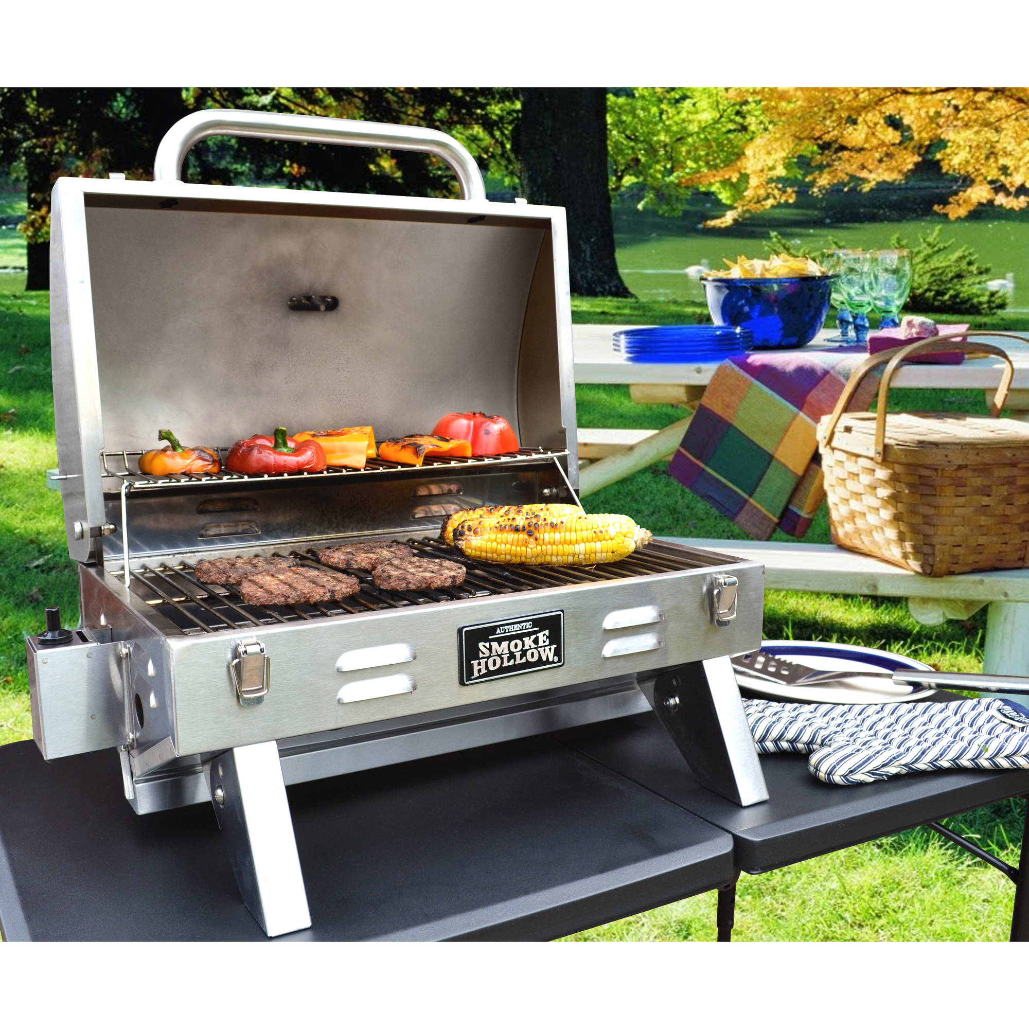 Stainless Steel Tailgate U0026amp; Portable Grill   Walmart.com