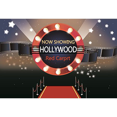 MOHome Polyster 7x5ft Hollywood Party Backdrop Glamorous Stars Catwalks Red Carpet Photography Background Cine Film Show Event Activity Awards Ceremony Kid Girl Boy Child Portrait Photo Studio - Hollywood Awards Shows