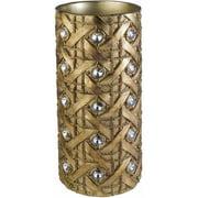 """Ok Lighting Ok-4260-V1 14""""H Gold Deco Vase, Gold"""