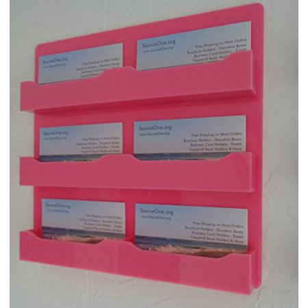 Source one llc pink 6 pocket wall mount business card holder source one llc pink 6 pocket wall mount business card holder colourmoves