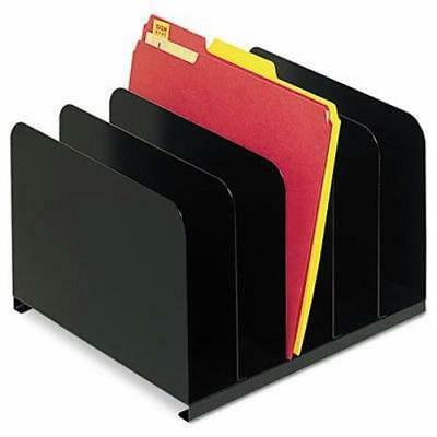 Steelmaster Vertical Organizer - Steelmaster Desktop Vertical Organizer, Five Sections, Steel, Black