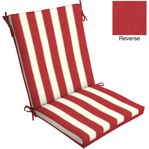 Mainstays Outdoor Reversible Dining Chair Cushion