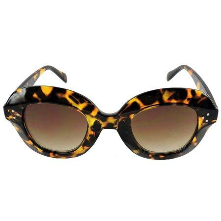 Vintage Thick Oversized Plastic Frame Womens Sunglasses UV 400 (Sunglasses Vintage Flower)