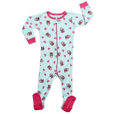 b473b43e6 leveret baby girls footed sleeper pajama 100% cotton (size 6m-5 ...