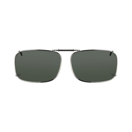 Solar Shield Unisex Gunmetal Polarized SolarShield ClipOn Sunglasses