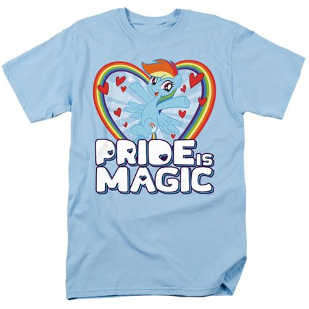 Trevco Sportswear HBRO264-AT-7 My Little Pony TV & Pride is Magic-Short Sleeve Adult 18-1 T-Shirt, Light Blue - 4X - image 1 of 1