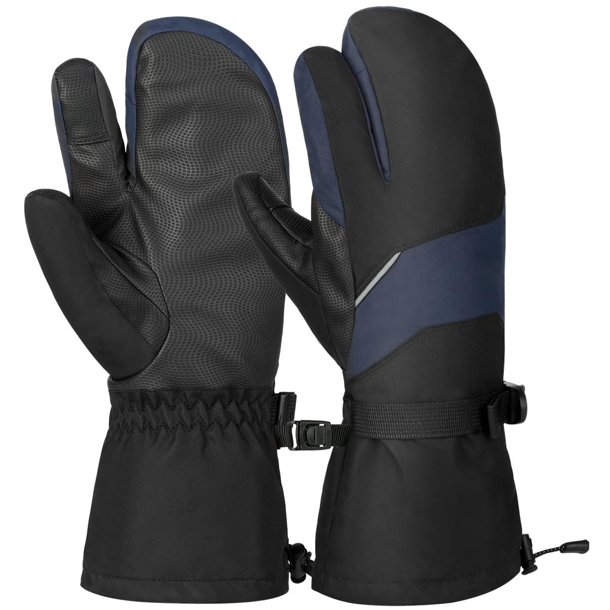 Vbiger Unisex Ski Gloves Warm Winter Gloves Thick Sports