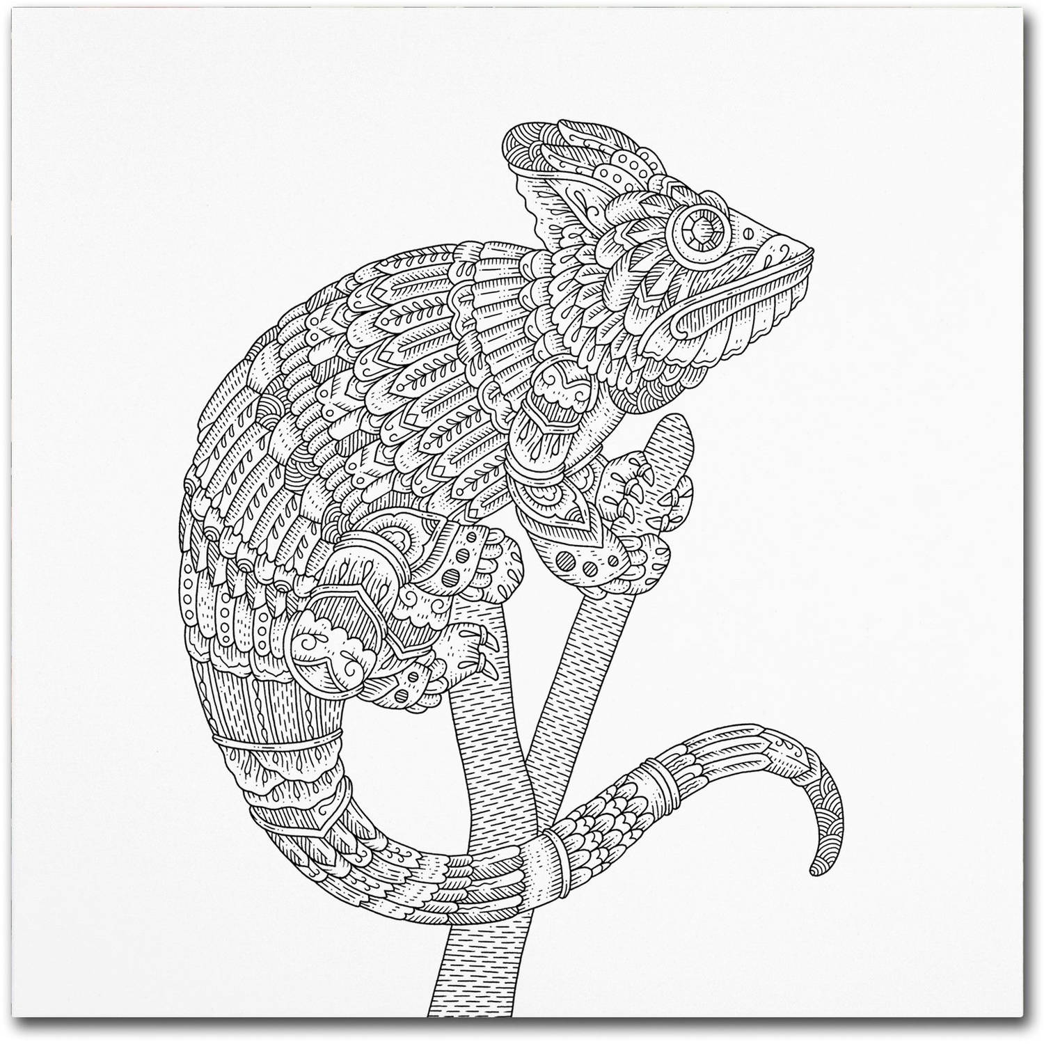 "Trademark Fine Art ""Spirit Animals 6"" Canvas Art by Filippo Cardu"