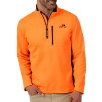 Mossy Oak Mens Performance Bonded Quarter (1/4) Zip Jacket