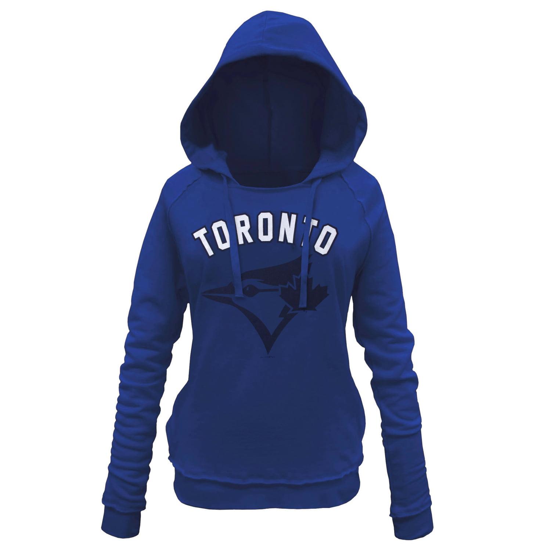 Toronto Blue Jays 5th & Ocean by New Era Women's Hot Corner Pullover Hoodie - Royal