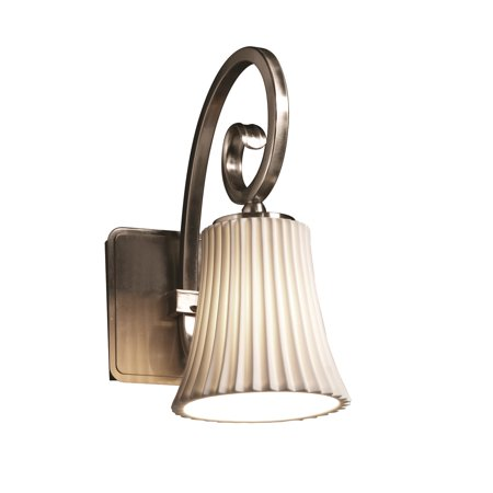Justice Designs Limoges Victoria 1-LT Wall Sconce - Brushed Nickel -
