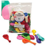 """Hygloss 9"""" Round Balloons, Assorted, 144 / Pack (Quantity)"""