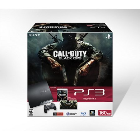 Refurbished Sony PlayStation PS3 Slim 160GB Console Black Ops