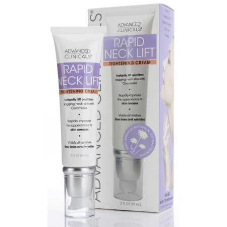 Advanced Clinicals Rapid Neck Lift Tightening Cream. Anti-Aging daily firming moisturizer for sagging skin, creases & fine lines, wrinkles. With Vitamin E, Aloe Vera, and Gotu Kola. 2oz.