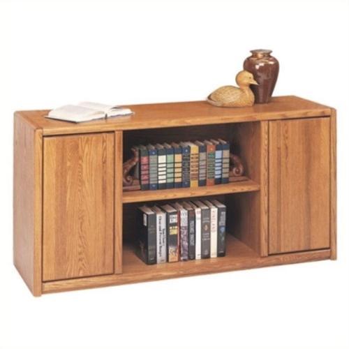 Martin Furniture Contemporary Wood Storage Credenza in Medium Oak