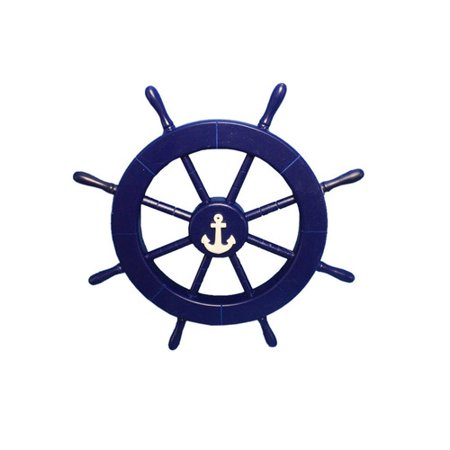 Handcrafted Nautical Decor Ship Wheel With Anchor Wall Decor