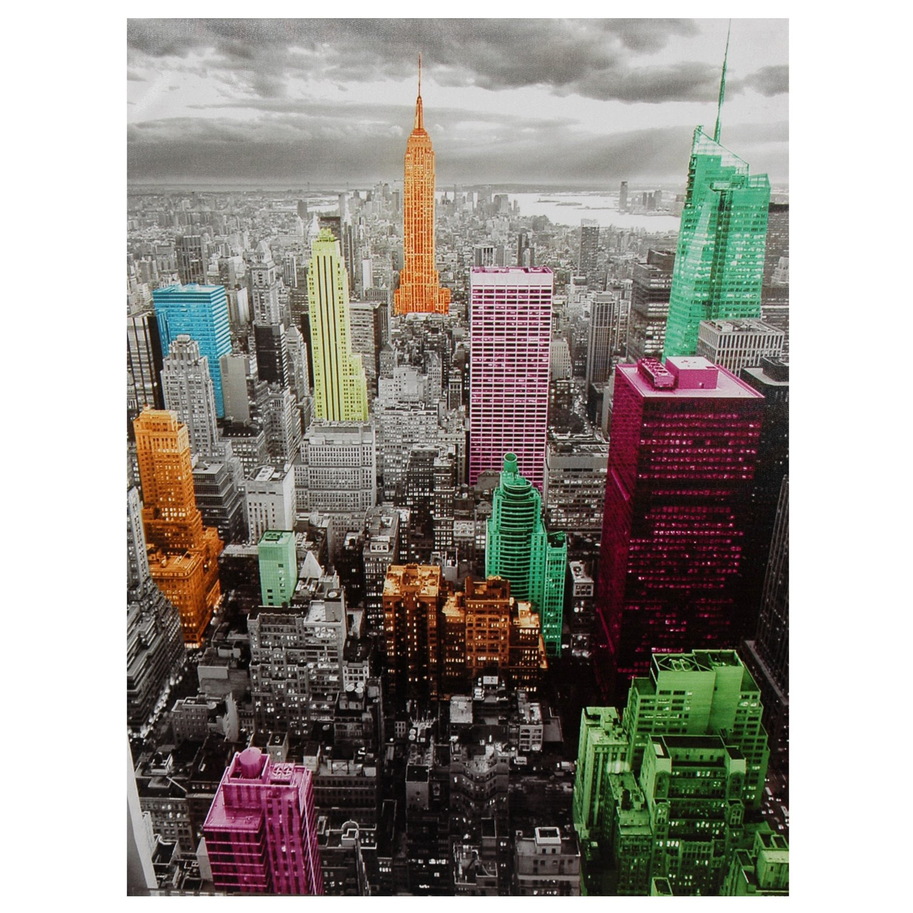 Oriental Home High-Lights of New York Skyline Canvas Wall Art