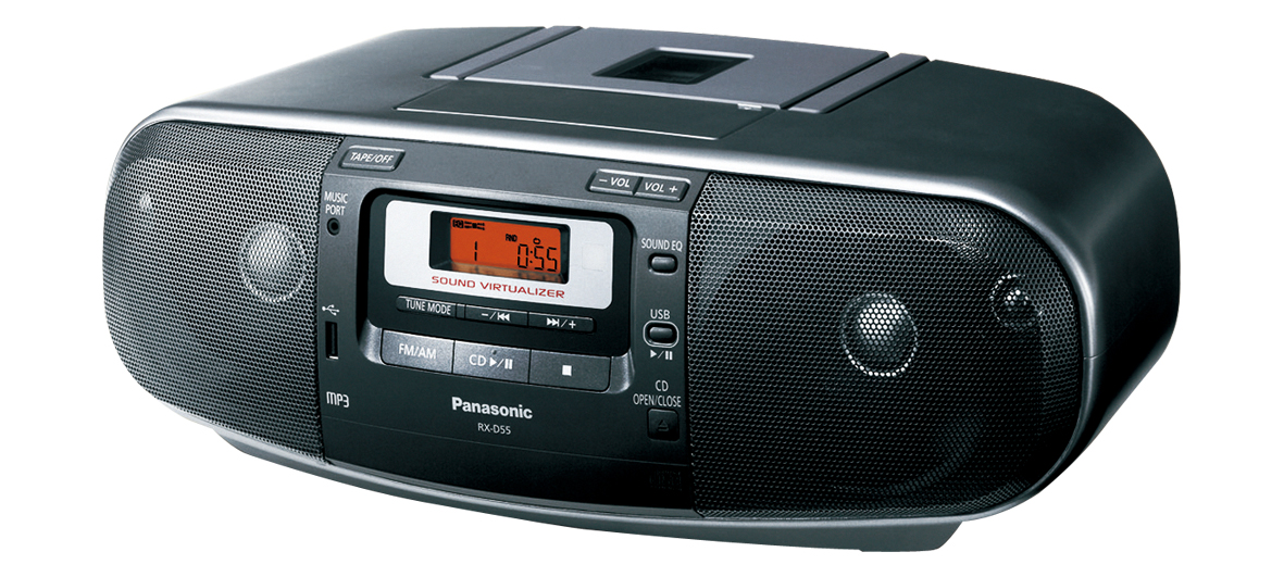 Panasonic RX-D55 Dual Voltage CD Tape Cassette Radio Boombox by Panasonic