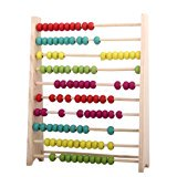 Wooden Abacus Educational Toy for Kids, Beads Color: Yellow, Green, Orange, Blue, Shocking