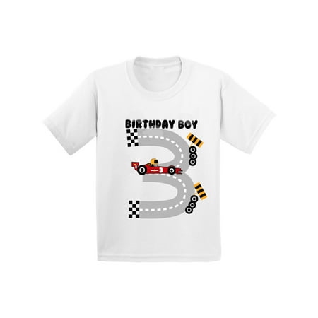 Awkward Styles Birthday Boy Race Car Toddler Shirt Race Car Birthday Party for Toddler Boys Funny Birthday Gifts for 3 Year Old 3rd Birthday T Shirt Third Birthday Outfit Race Tshirt for Birthday Boy - Presents For 3 Year Old Boy