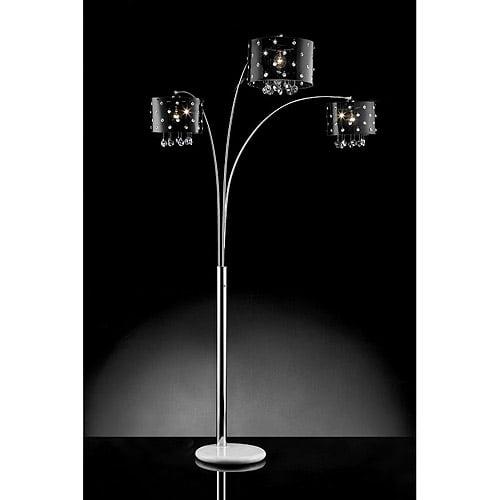 Ore International Inc. Star Crystal Arch Lamp, Silver