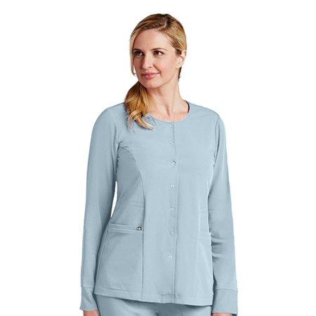 f37862117af Grey's Anatomy™ - Signature by Grey's Anatomy™ Women's 2 Pocket  Snap Front Solid Scrub Jacket - Walmart.com