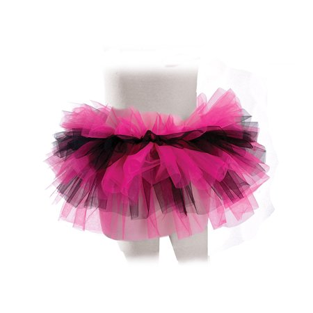 Pink Black Girls Ballet Dance Rave Halloween Tutu Petticoat-One Size