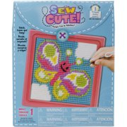 """Sew Cute! Needlepoint Kit-6""""X6"""" Stitched In Yarn"""