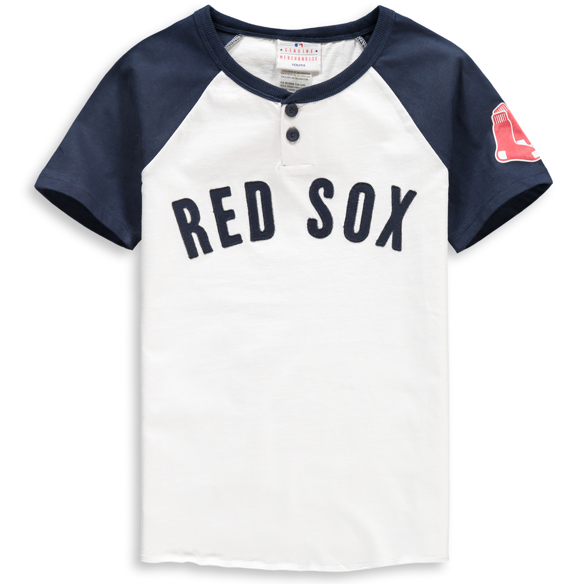 Boston Red Sox Youth Game Day Jersey T-Shirt - White/Navy