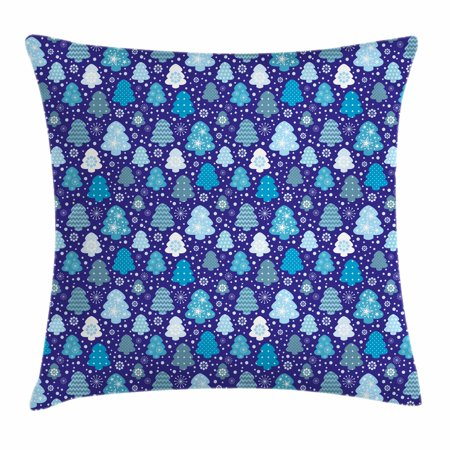 Sweet Sixteen Ideas For Winter (Winter Throw Pillow Cushion Cover, Snowflakes and Silhouettes of Christmas Pine Trees Sweet Christmas, Decorative Square Accent Pillow Case, 16 X 16 Inches, Violet Blue Pale Blue White, by)