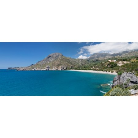 - Bay and beach of Souda Plakias Crete Greece Canvas Art - Panoramic Images (27 x 9)