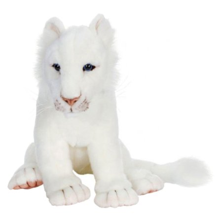 Hansa White Lion Cub Plush Toy - Plush Lion