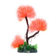 Orange Aquarium Fish Tank Decoration Aqua Landscape Plastic Plant