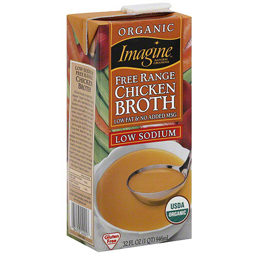 Imagine Foods Low Sodium Free Range Chicken Broth, 32 oz (Pack of 12)