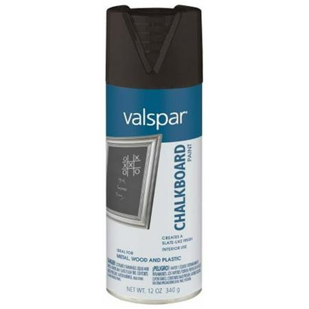 Valspar Brand 465-68007 SP 12 Oz Black Chalkboard Spray Paint - Pack of