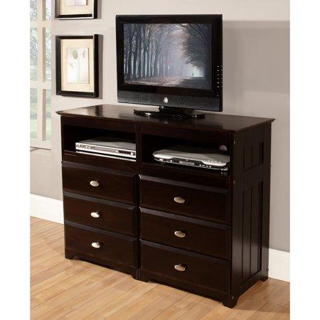American Furniture Classics 6 Drawer Entertainment Dresser - (Entertainment Chest)