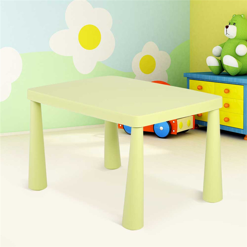 Gentil Green Kid Play Table,Toddler Plastic Learn Play Table Activity Desk