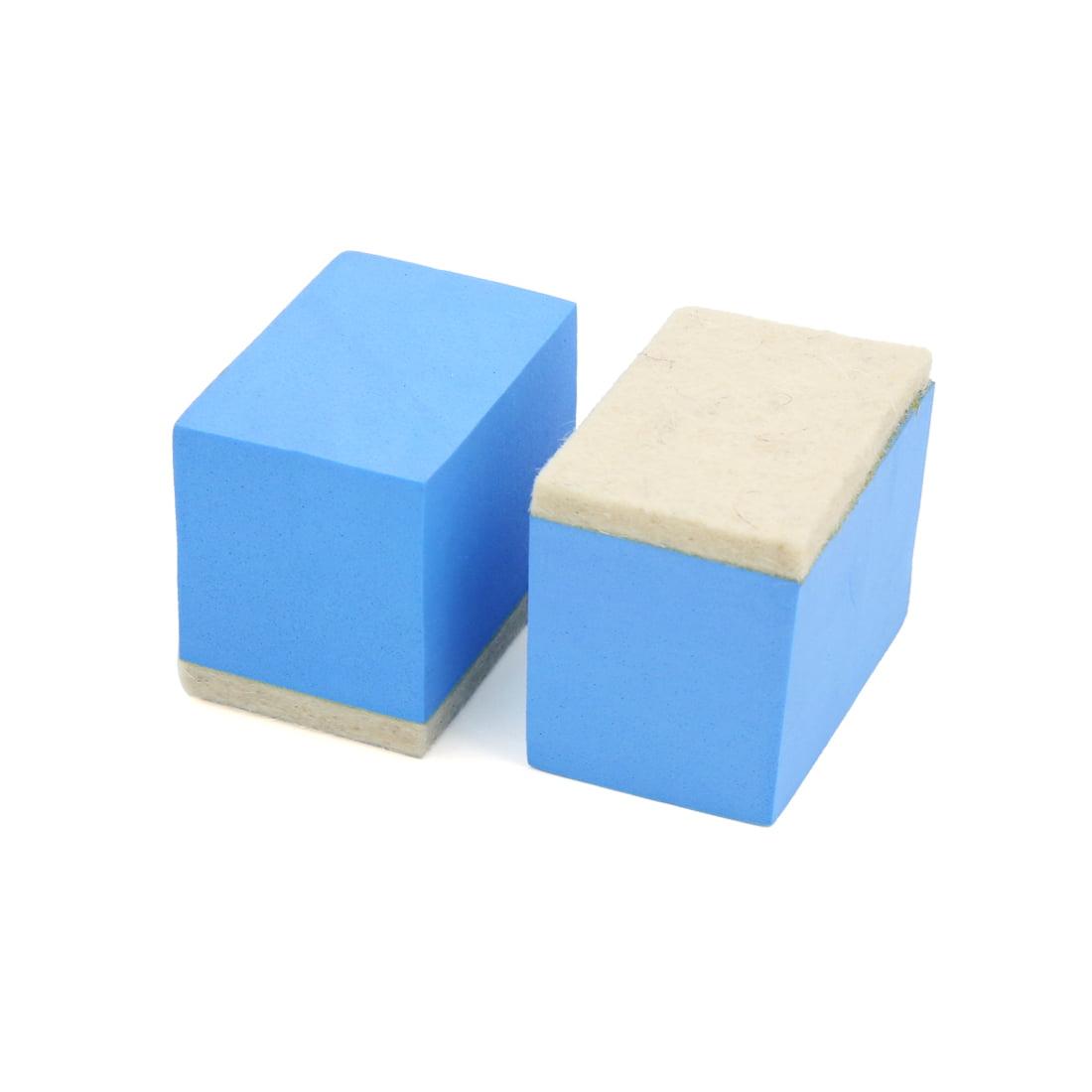 2Pcs Blue Beige Sponge  Car Vehicle Polishing Pad Waxing Buffing Tool - image 2 of 2