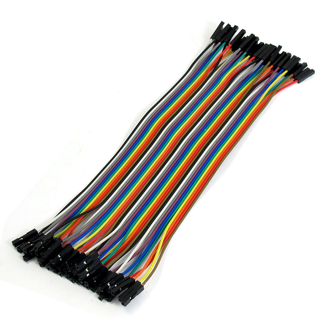 Unique Bargains 40 PCS 20CM Female to Female 1 Pin Plug Jumper Cable Wire for