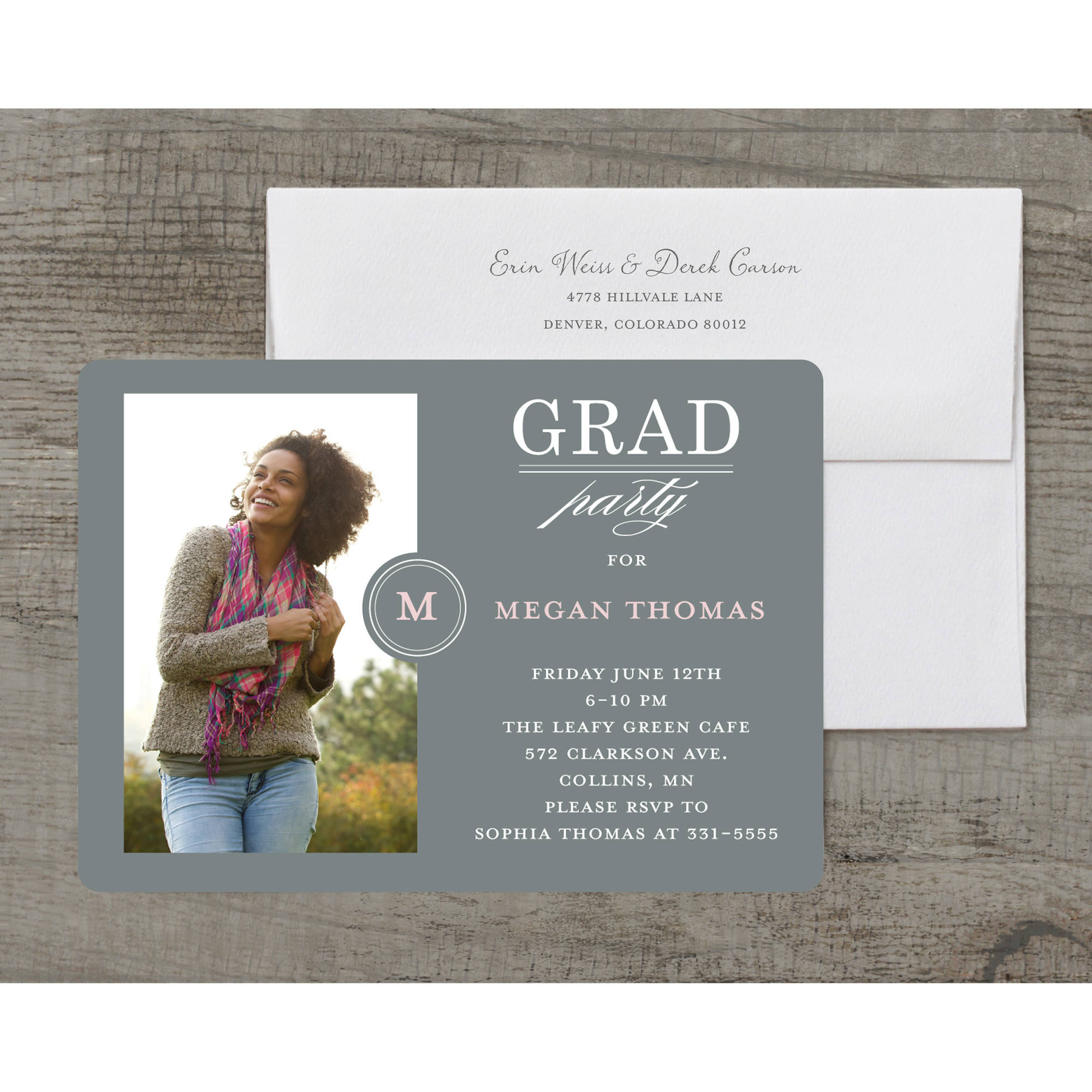 Fancy Filigree Deluxe Graduation Invitation
