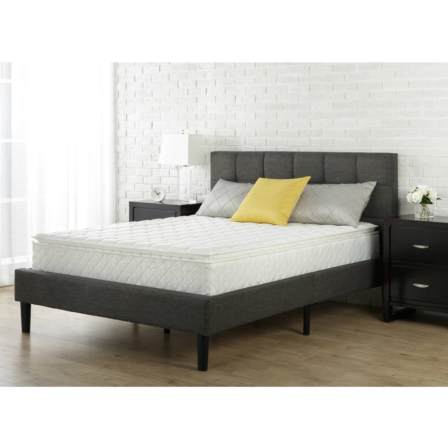 Slumber 1 - 10'' Dream Pillow Top Spring Mattress, Multiple Sizes